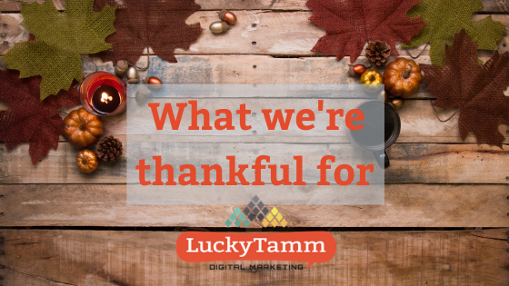 What We're Thankful for in 2019